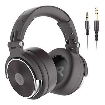 """אוזניות OneOdio Pro Studio עם חיבור AUX בגודל 6.35 מ""""מ ו-3.5 מ""""מ - אוזניות עם אוזניות DJ מיקרופון בראון"""