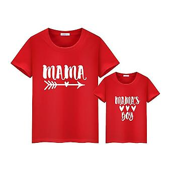 Zomer Family Matching Short T-shirt, Mommy And Son Print T-shirt