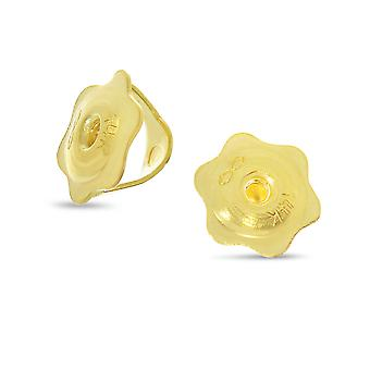 LXR 14k Or jaune Fermoir Type Replacement Boucles d'oreille Backs for 0.7mm Posts (1 paire)