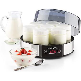 HanFei Milchstraße - Joghurtbereiter, Joghurt-Maker, 7 x 190 ml, Geschmacksecht, Glas, Timer,
