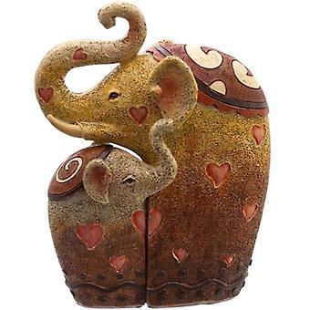 Pair of Elephants Figurine