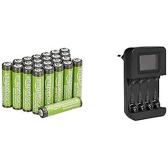 FengChun AAA-Batterien mit hoher Kapazität, wiederaufladbar, 850 mAh (24er-Pack), vorgeladen