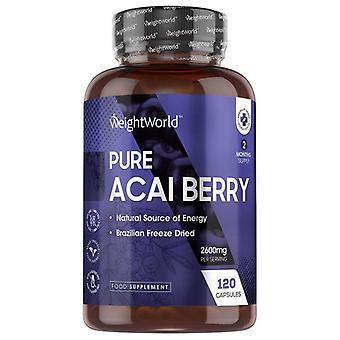 Pure Acai Berry - 2600 mg 120 Tablets - Natural Amazonian Berry Supplement (2 Months Supply)