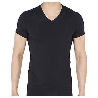 Hom - Man - T-Shirt V-neck 'Plumes' - Black T-shirt - Black - Size L