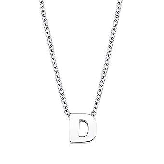 Amor halskæde med unisex vedhæng, bogstav C, Brev, i poleret rustfrit stål