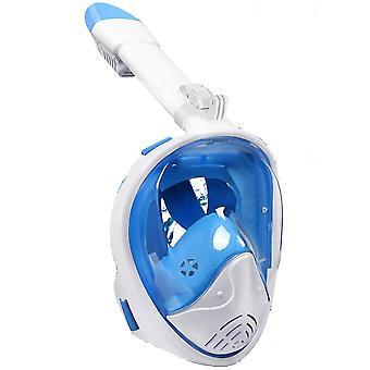 L-xl blau Anti-Beschlag und Anti-Leak Vollgesicht Schnorchel Maske für Erwachsene, copoz az8156