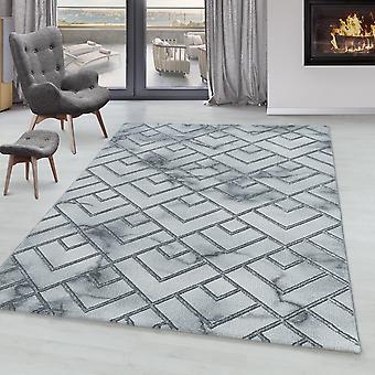 Stue Tæppe OXIA Kort bunke Design Mønster Marmoreret Lines