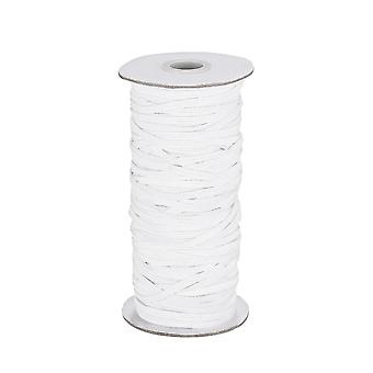 Healifty 100 Yards Braided Elastic Band High Elasticity Rope Sewing Braid Knit Rope White Elastic Cord For Diy Crafts & Sewing