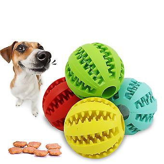 4pcs Treat Ball Toy Interactive Dispenser Food Rubber For Dog