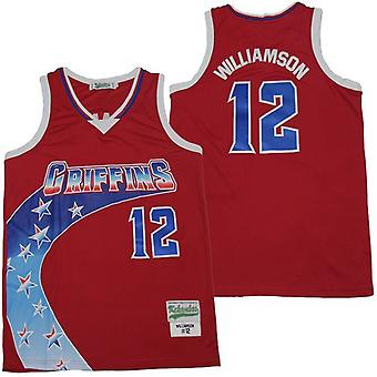 Men's Zion Williamson #12 Alternate Basketball Jersey Sports T Shirt S-xxl,fashion 90s Hip Hop Clothing For Party, Stitched Letters And Numbers