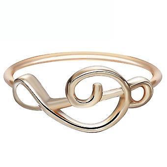 Hstume Miku Anime Ring galvanisierte Metall Finger Ring für Sammlung golden
