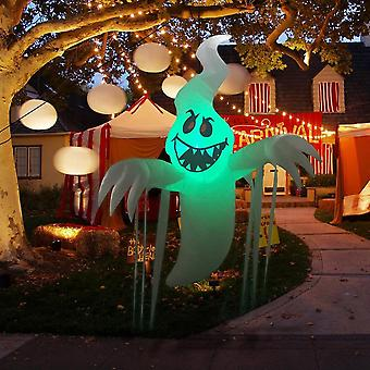 Halloween Inflatable Hanging Ghost With Colorful Flashing Led Light, Halloween Party