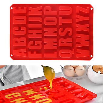 Silicone Large Alphabet Letter Silicone Mould Stencil Cake Jelly Cupcakes Mold