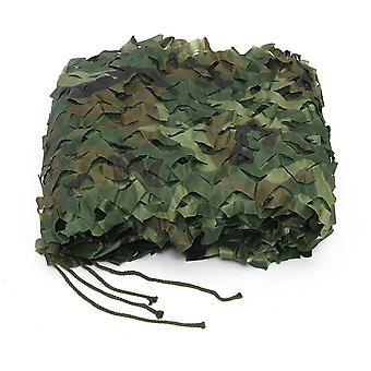 Camouflage army green trap net military hunting trap woodland leaves sunshade net