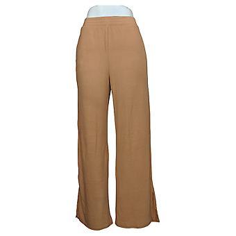 Soft & Cozy Women's Pants Brushed Hacci Knit w/ Pockets Beige 627829