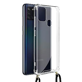 Cover Lanyard for Samsung Galaxy A21s Flexible Neck Strap Clear