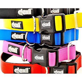 Elite Range Luxury Neoprene Padded Extra Strong Adjustable Small-Medium Pet Dog Collar (Flash Red,