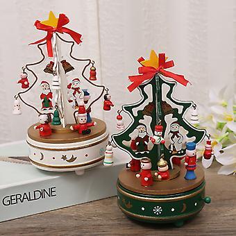 Christmas Wooden Music Box Music Box Christmas Tree Creative Gift Christmas Decoration Crafts