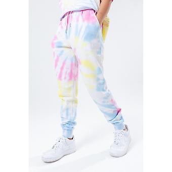 Hype Dames /Dames Pastel Rainbow Tie Dye Logo Joggingbroek