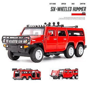 1:32 Hummer Carro Modelo de Carro Dente Carro Die Cast Toy Car Modelo Puxar De Volta Colecionáveis de Brinquedos Infantis