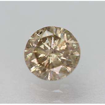 سيرت 0.73 قيراط أعلى ضوء البني SI2 جولة رائعة الماس فضفاضة الطبيعية 5.69mm