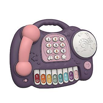 Elektronisches musikalisches Telefon Spielzeug für Baby Pädagogisches Klavier Telefon Tastatur Lernen Musik