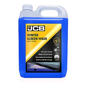 JCB - 5L Winter Screen Wash - Effective down to -5 degrees - Low Smear formula