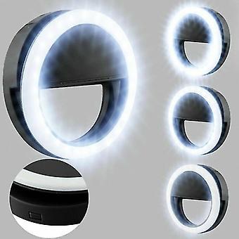 Camera accessory sets black universal selfie led light ring flash fill clip camera for phones laptops tablet