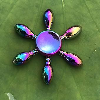 Anti Stress Fidget Regenbogen moderne futuristische Metall Finger Spinner (Q14)