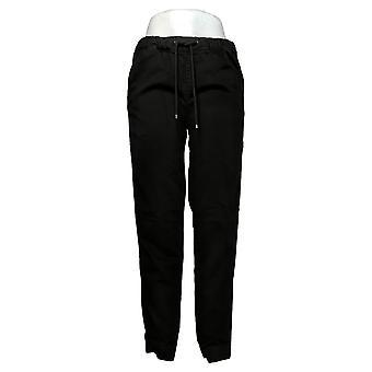 Skinnygirl Women's Pants (XXS) Pull-On Knit Denim Jogger Black 753683