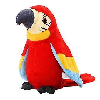 Electric Talking Parrot Stuffed Plush Bird Toy Red