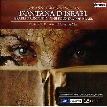 J.H. Schein - Johann Hermann Schein: Fontana D'Israel [CD] USA import