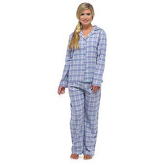السيدات توم فرانكس الغزل مصبوغ الاختيار منقوشة التقليدية بيجاما طويلة مجموعة ملابس النوم