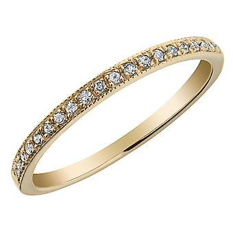 10K Yellow Gold Diamond Milgrain Band 1/10 Carat (ctw)