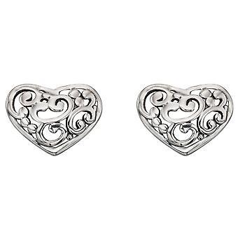 925 sølv hjertet ørering