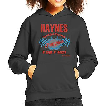Haynes Brand Sparkford Raceway Top Fuel Kid's Hooded Sweatshirt