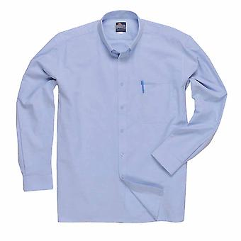 Portwest - Oxford Business Uniform Style Long Sleeve Button Up Shirt