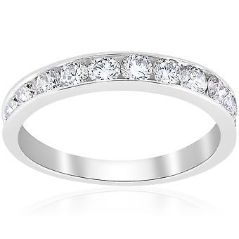 1 قيراط الماس خاتم الزواج 14 ك الذهب الأبيض