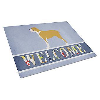 Carolines Treasures  BB8327LCB Belgium Mastiff Welcome Glass Cutting Board Large