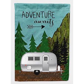 Airstream Camper Adventure Awaits Flag Canvas House Size