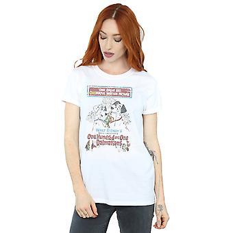 女性ディズニーの 101 匹わんちゃんレトロ ポスター彼氏フィット t シャツ