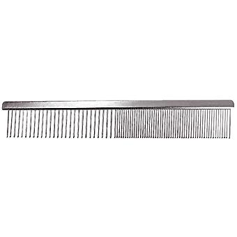 Groom Professional Fine/Coarse Chrome Pet Grooming Comb 19cm