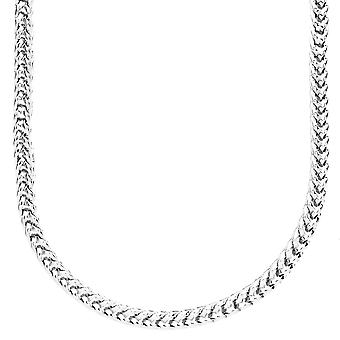 Iced out bling ontwerper FRANCO chain - 4mm zilver