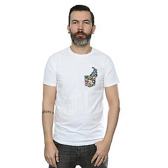 男子キャプテン アメリカのどのポケット t シャツを驚嘆します。