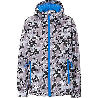 Trespass Girls Qikpac Waterproof Breathable Packaway Print Jacket
