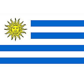 Uruguay vlag 5 ft x 3 ft met oogjes