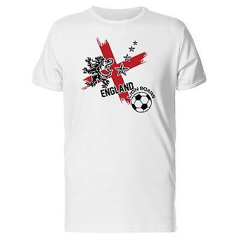 England Lion Roars Soccer Champions Men's White T-shirt