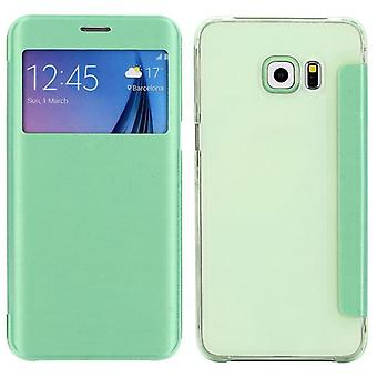 Smart cover window green for Samsung Galaxy S6 edge plus G928 F