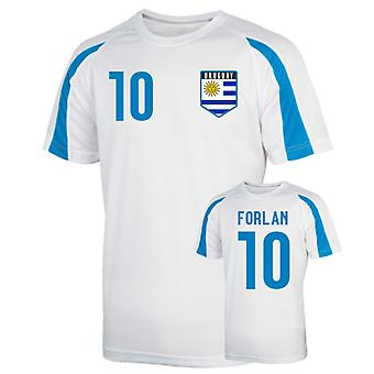 Uruguay maillot de formation sport (forlan 10)