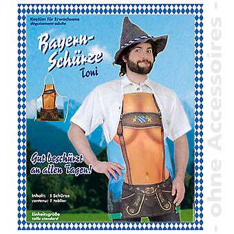 Beierse Oktoberfest kostuum mannen schort Toni heren kostuum
